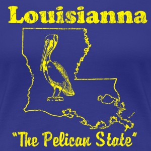 Louisianna, the Pelican state vintage design Women's T-Shirts - Women's Premium T-Shirt