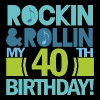 40th Birthday (Rock and Roll) T-Shirts - Men's Premium T-Shirt