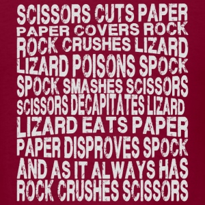 rock paper scissors lizard Spock - Men's T-Shirt