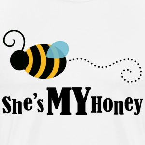 She's My Honey (Couples Matching) Mens T-shirt | C - Men's Premium T-Shirt