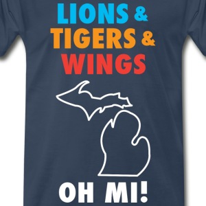 Lions & Tigers & Wings OH MI! - Men's Premium T-Shirt