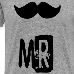 mr mustache T-Shirts - Men's Premium T-Shirt