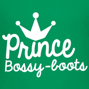 PRINCE bossy boots with royal crown Kids' Shirts - Kids' Premium T-Shirt
