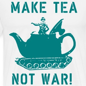 MAKE TEA NOT WAR! - MENS - CREAM - Men's Premium T-Shirt