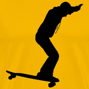 Longboarder Skate in Action T-Shirts - Men's Premium T-Shirt