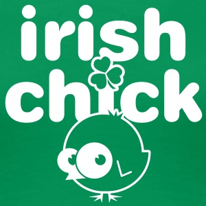 Irish Chick – Green - Women's Premium T-Shirt