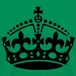 Keep Calm Crown T-Shirts - Men's Premium T-Shirt