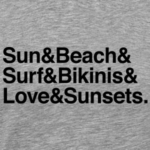 sun surf sunsets T-Shirts - Men's Premium T-Shirt