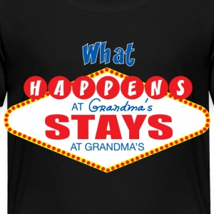 what happens at grandma's stays at grandma's - Toddler Premium T-Shirt