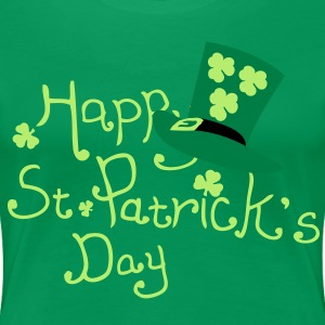 Happy st. Patrick's day lucky charm Women's Plus S - Women's Premium T-Shirt