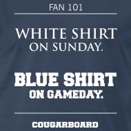 Design ~ Blue Shirt on Gameday T-shirt (3X/4X)