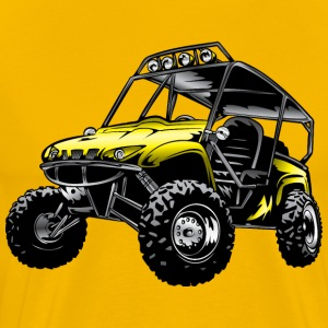 UTV side-x-side yamaha, yellow - Men's Premium T-Shirt