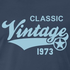Vintage CLASSIC 1973 Birthday Anniversary 40th T-S