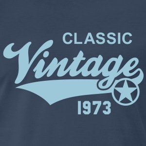 Vintage CLASSIC 1973 Birthday Anniversary 40th T-S - Men's Premium T-Shirt