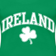 Design ~ Ireland Shamrock Women's Plus-Size T-Shirt