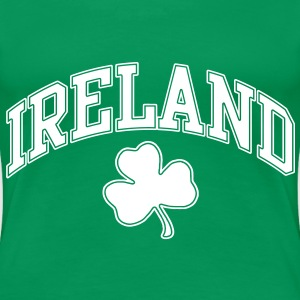 Ireland with Shamrock Women's T-Shirts - Women's Premium T-Shirt