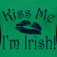 Design ~ Plus Size Glitter Kiss Me I'm Irish Women's Tshirt