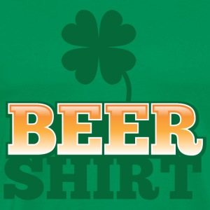 BEER SHIRT with shamrock beers pint T-Shirts - Men's Premium T-Shirt