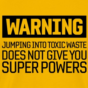 Warning Toxic Waste T-Shirts - Men's Premium T-Shirt