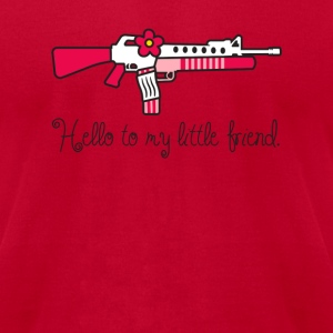 Hello to my Little Friend - Men's T-Shirt by American Apparel