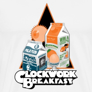 A Clockwork Breakfast - Men's Premium T-Shirt