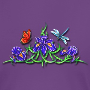Pretty Flower Vine and Dragonfly Women's T-Shirts - Women's Premium T-Shirt