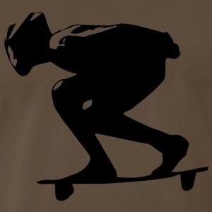 Downhill Longboard Girl T-Shirts - Men's Premium T-Shirt