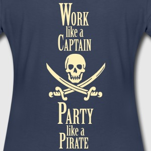 Work like a CAPTAIN party like a PIRATE Women's T-Shirts - Women's Premium T-Shirt