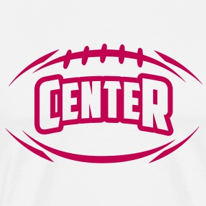 AMERICAN FOOTBALL center_4light_1c T-Shirts - Men's Premium T-Shirt
