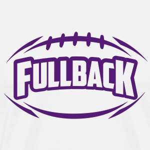 AMERICAN FOOTBALL fullback_4light_1c T-Shirts - Men's Premium T-Shirt