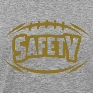 AMERICAN FOOTBALL safety_4light_1c T-Shirts - Men's Premium T-Shirt