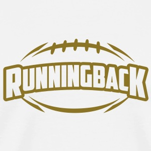 AMERICAN FOOTBALL runningback_4light_1c T-Shirts - Men's Premium T-Shirt