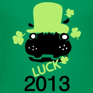 2013 luck hippo in green hat ST.PATTY'S DAY  Kids' - Kids' Premium T-Shirt