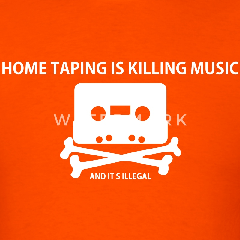 Piracy: Home taping is killing music T-Shirts - Men's T-Shirt