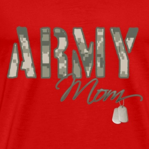 army_mom_camo_w_dog_tags T-Shirts - Men's Premium T-Shirt