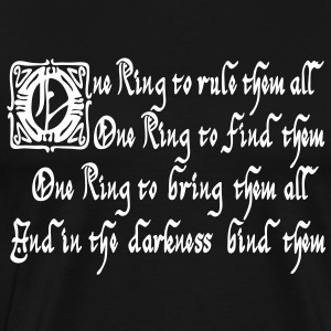 One ring to rule them all T-Shirts - Men's Premium T-Shirt