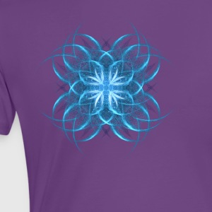 Tribal Ice - blue geometric fractal art  - Women's Premium T-Shirt