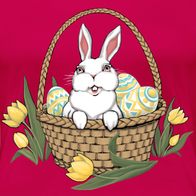 Women's Easter T-shirts Plus Size Easter Basket Shirts