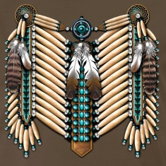 Turquoise & Bone Native American Breastplate