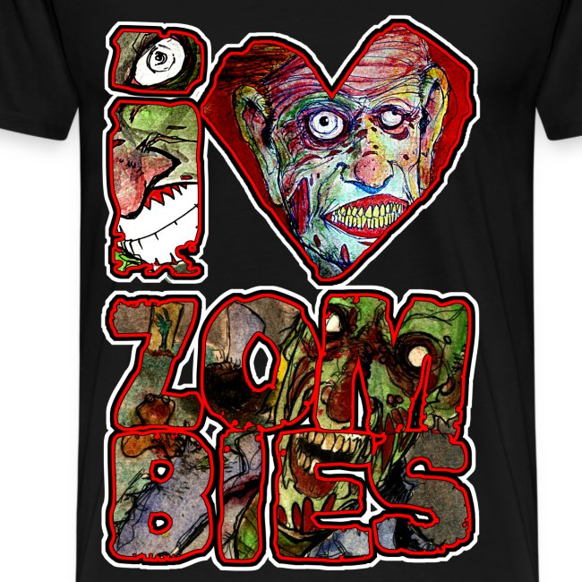 mens - love zombies square