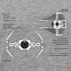 TIE fighter diagram - Men's Premium T-Shirt
