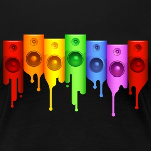 Rainbow Speakers Women's T-Shirts - Women's Premium T-Shirt