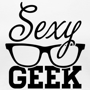 Like a i love cool sexy geek nerd glasses boss Women's T-Shirts - Women's Premium T-Shirt