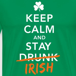 i love keep calm drunk irish st. patricks day T-Shirts - Men's Premium T-Shirt