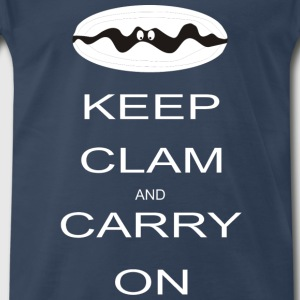 Keep clam and carry on T-Shirts - Men's Premium T-Shirt