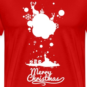 Christmas symbols with snow and merry christmas T- - Men's Premium T-Shirt