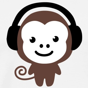 monkey_earphones T-Shirts - Men's Premium T-Shirt
