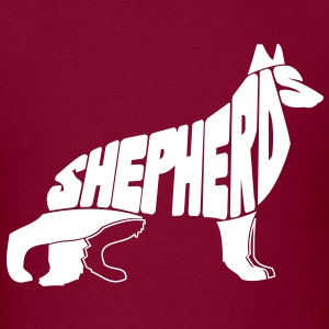 German Shepherd Art T-Shirts - Men's T-Shirt