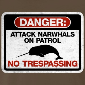Attack Narwhals on Patrol  - Vintage T-Shirts - Men's Premium T-Shirt