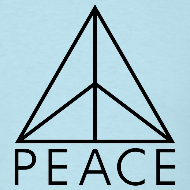 Hardwear Styling Clothes Triangle Of Peace 32 Mens T Shirt